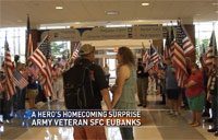 20 Year Army Vet Gets Hero's Welcome