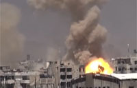 Syrian Forces Carpet Bomb Militants in Jobar