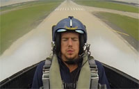 Danny DeKeyser Flies with the Blue Angels