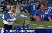 Marine Surprises Family at NFL Game