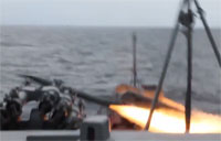 Ukrainian SAM Missile Misfires at Sea