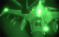KC-135 Refuels F-16 During Syria Operations