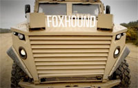 British Army's Foxhound 4X4 MRAP in Action