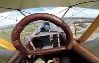 In the Cockpit of a WWI Biplane Fighter