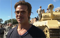 Military.com Interviews Brad Pitt for