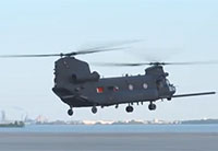 Army Special Forces MH-47G Helicopter First Flight