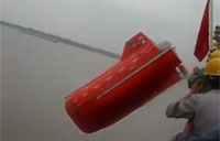 Chinese Lifeboat Launch Goes Bad