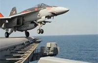 USS Carl Vinson Takes Over Strikes Against ISIL