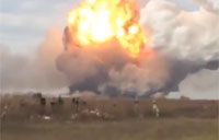 Ammunition Plant Explosion from 2 km Away