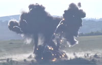Blowing Up Unexploded Ordnance in Ukraine