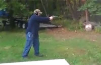 First Time Shooter Almost Kills Himself