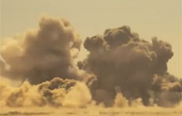 JDAMs Destroy Taliban Position - Bombs Visible