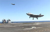 First F-35C Arrested Landing Aboard Carrier