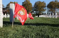Honoring Marines at Arlington