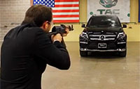 Man Shoots Armored Mercedes-Benz with AK-47