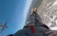 Go Pro Footage of a Paratrooper Jumping