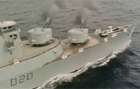 HMS Fife (D20) Gunnery Exercise in 1975