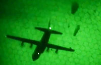 Paratroopers Conduct Night Drops in Italy