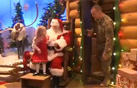 Soldier Surprises 3-year-old Daughter for Christmas
