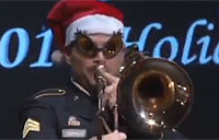 MCOE Band Spreads Awesome Holiday Cheer