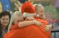 Soldier Turns Santa to Surprises His Daughters