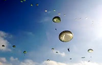 Paratroopers Descend During Operation Toy Drop