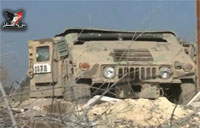 Syrian Army Captures US Humvee from ISIS