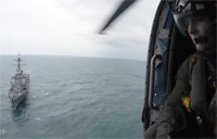 Navy Helo Search Operations for AirAsia Flight