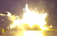 SpaceX Rocket Crashes Onto An Ocean Barge