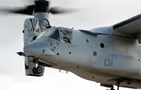 MV-22 Osprey Swoops in for Cargo Lift