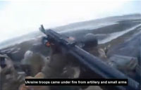 Ukrainian Soldiers Come Under Small Arms Fire