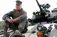 Marines Send Rounds Down Range in LAVs