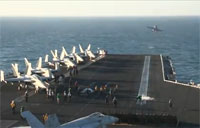 USS Carl Vinson Launches Aircraft to Fight ISIS
