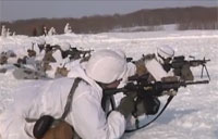 Paratrooper Live Fire Training in the Snow