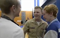 Sailor Surprises Brothers at Wrestling Match