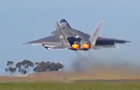 F-22 Raptor Takeoff x2 at Australian Air Show