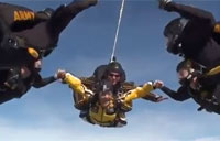 Lea Gabrielle Jumps with Golden Knights