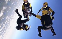 Golden Knights Vertical Formation Skydiving Team