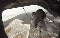 Jumpmaster Jumps from CH-47 Chinook!