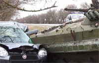 Aftermath of IFV Collision with Fiat