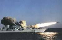 Russian Supersonic Missile Blows Away Vessel