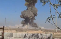 Iraqi Tank Blows Up ISIS Suicide Bomber