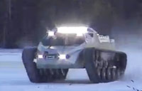 Ripsaw EV2 Drifting On Ice Part 1