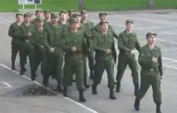 Russian Army's Strange Marching Cadence