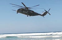 CH-53 Makes Emergency Landing on Beach!