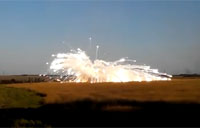 Missile Launcher Explodes in Ukraine