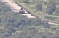 Syrian BMP Crew Survives TOW Missile
