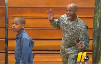 Soldier Surprises Son with Photobomb