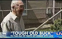 WWII Vet, 95, Fights Off Robber with Cane