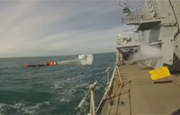 HMS Sutherland Launches Stingray Torpedo